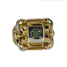 18 Carat Multi-Tone Gold Round Fine Gemstone Rings