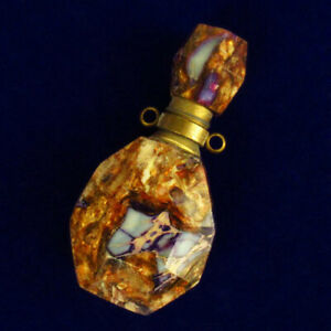 Purple Sea Sediment Jasper Charm Essential Oil Diffuser Bottle Pendant  R50225