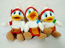 Walt Disney World Frontierland Bean Bag Plush Huey, Dewey, Louie NWT!!