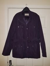 Lovely ladies size 16 purple 'Bhs' belted coat jacket