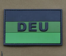 "PVC / Rubber Patch ""Subdued German Flag DEU"" with VELCRO® brand hook"
