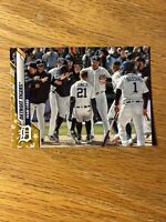 2020 Topps Series 2 Factory Gold Star Detroit Tigers Team Card #625