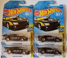 New 2018 HOT WHEELS '10 PRO STOCK CAMARO ~ Lot Of (4) US Cards Black