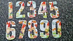 Garden Gnome Wheelie Bin Number Stickers  Weatherproof 7inch/17cm