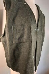 C.C. Filson Men's Wool Vest Liner Snap In Style 65 Size 48 Green