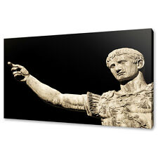 STATUE OF THE ANCIENT ROMAN EMPEROR CANVAS PRINT WALL ART PICTURE