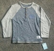 Brand New w/Tags Blue & Grey L/Sleeve Top with Button Detail (Mothercare 5yrs)