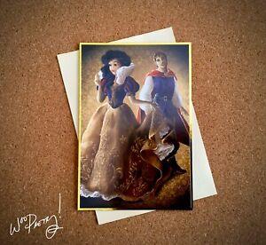 2013 Disney Designer Fairytale Couples Note Card SNOW WHITE & PRINCE CHARMING