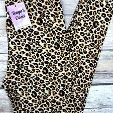 23469e46fda90a EXTRA PLUS Cheetah Leopard Leggings Animal Printed Buttery Soft Curvy 16-24