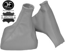 GREY LEATHER GEAR & HANDBRAKE GAITER FITS VAUXHALL ASTRA G COUPE 1998-2005