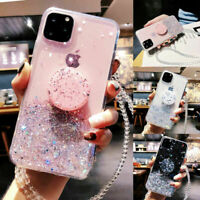 GLITTER Case & POP UP SOCKET For iPhone 12 Pro Max ,Mini Shockproof BLING Cover