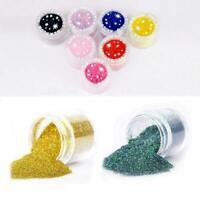 10/20x Empty Pots Bottles Nail Art Polish Glitter Powder Acrylic Container C7O0
