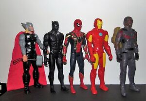 Marvel Legends 12'' Figures. Spiderman, Ironman, Black Panther, Falcon & Thor