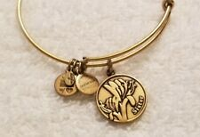 Alex And Ani Sister Family Charm  Gold expandable Bangle Bracelet
