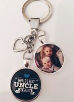 Personalised Photo Keyring World's Best Uncle - Gift Present Birthday Christmas