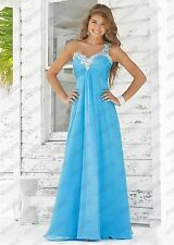 One-shoulder Formal Evening Ball Gown Party Prom Bridesmaid Dress Stock Size6-22