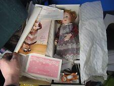 "1989 Georgetown Brigitte Deval 16"" Megan & Marmalade Porcelain Doll w/ Box & COA"