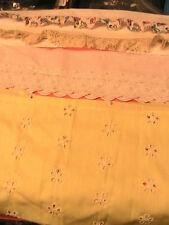 COLORED~WHITE~CROCHET~FLAT~RUFFLE LACES~ 7-1/2 yards & BONUS BAG of laces