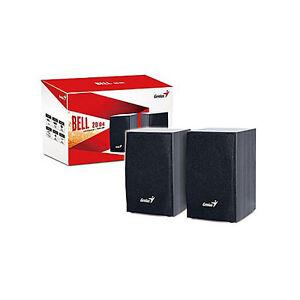 Genius Bell 20|04 2.0 Speakers USB Power PC MAC MUSIC MP3 SP-HF160 4watt RMS