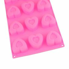 Selecto Bake - 12 Hearts Mini Silicone Bun/Muffin Mould - Non Stick Tray Baking
