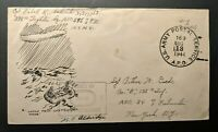 1944 Loose Talk Costs Lives US APO to New York Illustrated WWII Patriotic Cover