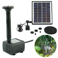 5W 175L/H Solar Powered Submersible Water Pump Kit Garden Pool Pond Fountain