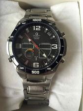 Solar Funkuhr Funk Uhr Quality Time Worldtimer Armbanduhr Edelstahl QGS-11164-22