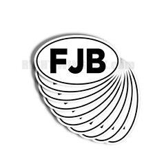 """FJB - F Joe Biden 10 pack of Oval Bumper Stickers Anti Biden 5"""" wide 10 Pack"""