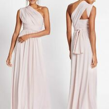 M&S Multiway Strap Maxi Dress UK 10 Reg Blush Pink