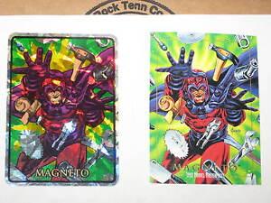 1992 MARVEL MASTERPIECES MAGNETO #49 VENDING MACHINE STICKER! RARE PRISM! X-MEN!