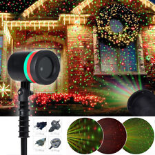 Christmas Outdoor Snowflake LED Light Moving Snow Laser Projector Garden Lamp