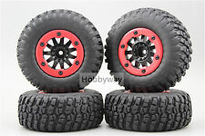 4pcs RC 1/10 Bead Lock Short Course Tire Tyre Set 12mm hex 1/2 offset 30002