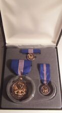 Army Achievement for Civilian Service Medal Set in Presentation Case (4pcs)