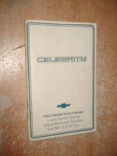 1984 CHEVY CELEBRITY OWNERS MANUAL ORIGINAL GLOVE BOX BOOK