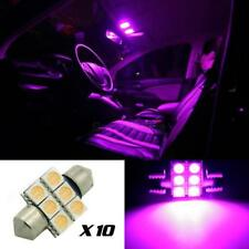 10x Purple 6SMD LED MAP/DOME INTERIOR LIGHTS BULBS/BULB 31MM FESTOON
