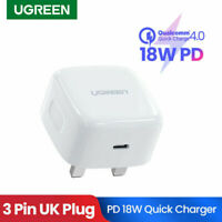 Ugreen 18W USB Type C Quick Charge UKPlug PD Wall Charger Power Adapter