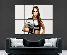 Ufc ronda rousey poster female ufc kick boxing wall art print large énorme