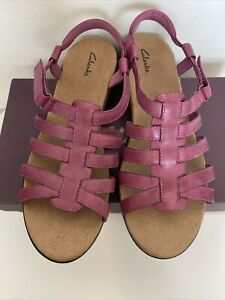 NEW Clark's Women's Pink Rosa Gulf Sandals Size 12