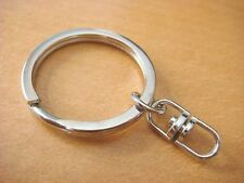 50 New Silver Key Chains with Swivel Connectors Key Ring H10-50