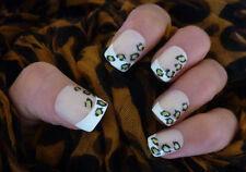 2 Hojas De Arte De Uñas Stickers Calcomanías Decoración Leopard Print Leopardo Manchas