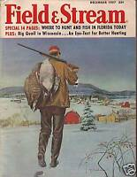 1957 Field & Stream December - Labrador Salmon;Safari