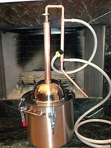 Copper Alcohol Moonshine Ethanol Still E-85 Reflux HD8 Gallon Stainless Boiler
