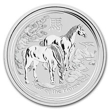 2014 1 oz Silver Australian Perth Mint Lunar Year of the Horse Coin - SKU #78058