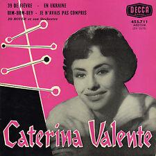 CATERINA VALENTE 39 DE FIEVRE FEVER FRENCH ORIG EP BORIS VIAN