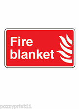FIRE BLANKET SAFETY SIGN corflute 30x25cm printed location workplace smoke