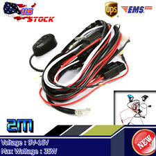 12V 40A 35W LED HID Work Fog Light Bar Wiring Harness Kit ON/OFF Switch Relay