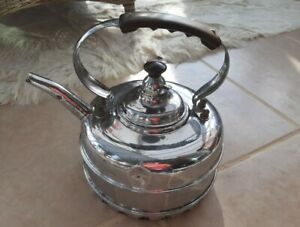 Original The Simplex Patent Kettle Guaranteed Copper with chrome exterior