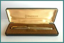 "PARKER 75 CISELE Fountain Pen Sterling Silver 1960's - NEW NIB ""F"" Just SERVICED"