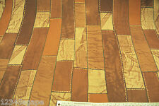 D179 GEOMETRIC PATCH WORK PRINT IN A HOMBRE OF BROWN &TANS JERSEY 60'S INSPIRED