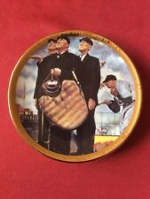 "Norman Rockwell Collectible Plate ""Bottom of the Sixth"" Sports Impressions"
